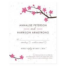 Wedding Reply Cards Plantable Cherry Blossom Reply Card Plantable Seed Wedding Reply