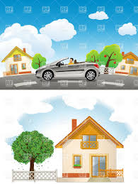 car road tree home house vector image 5503 u2013 rfclipart
