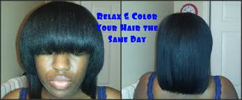how to relax u0026 color your hair the same day youtube