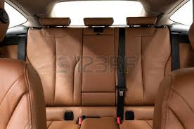 Brown Car Interior Car Interior Passenger Places With Leather Close Up Stock Photo