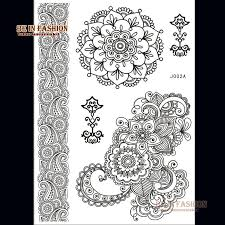 wholesale one piece black henna tattoo paste fake tatoos lace