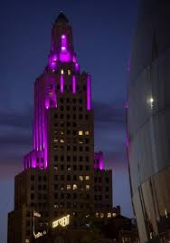 kansas power and light kc s power light building is pretty in pink and blue and red and