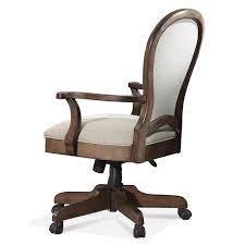 Desk Chair Back Riverside 15838 Belmeade Round Back Upholstered Desk Chair