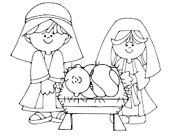 printable coloring pages nativity scenes simple nativity scene colouring page kids crafts pinterest