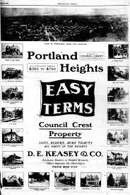 portland heights real estate ad 1906 vintage portland