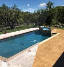 austin texas pool deck resurface with concrete overlay tape