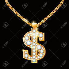 hip hop style necklace images Dollar sign with diamonds on gold chain hip hop style necklace jpg