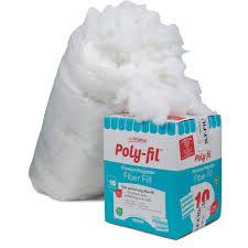 fairfield 10 pound poly fil premium polyester fiber white