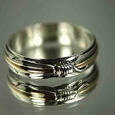 gold or silver wedding rings american gold silver feather wedding band ring wedding