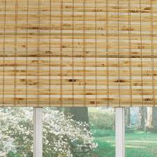 Outdoor Roll Up Shades Lowes by Shop Levolor Natural Bamboo Light Filtering Bamboo Natural Roman