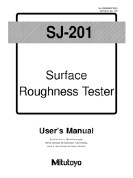rujosimetro miitutoyo sj 201 surface roughness electrical