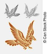 vector illustration of flying bird ornament decoration