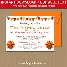 thanksgiving invitations invitation template digital