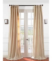 Teal Taffeta Curtains Get Antique Beige Faux Silk Taffeta Curtains Drapes At Low Price