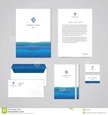 Business Letterhead Templates Free Download by Corporate Identity Furniture Company Blue Design Template