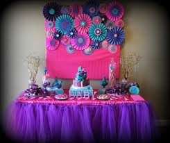 it s a girl baby shower decorations pink purple turquoise it s a girl baby shower party ideas pink
