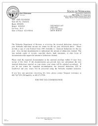 nebraska department of revenue itemized deductions review letter