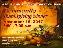 asbury united methodist church community thanksgiving dinner