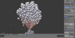 modeling how to make a group of balloons this big blender