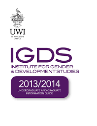uwi igds info booklet 2013 2014 by institute for gender and