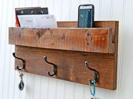 rustic backdoor coat rack mail organizer wall mail slot key