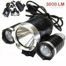mountain bike cycle bicycle lights 3000 lumens 3x cree xm l t6 led