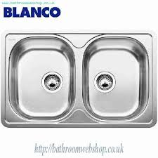 Stainless Steel Kitchen Sinks BLANCO Lantos IF Compact Stainless - Kitchen sink pop up waste