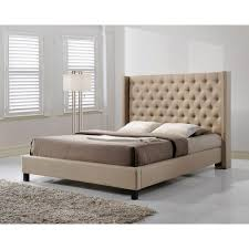 King Upholstered Platform Bed Altos Home Pacifica Gray King Upholstered Bed Alt K6512 Gry The