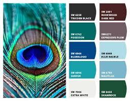 image result for peacock color palette bathroom re do