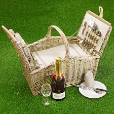 picnic baskets for two empty picnic basket lid 4 person empty hers