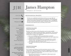 creative resume template for word 1 2 or 3 page professional