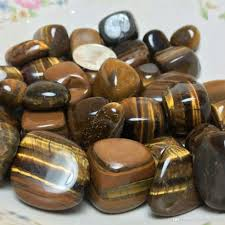 wholesale western home decor natural tiger eye stone crystal tumbled stone irregular small size