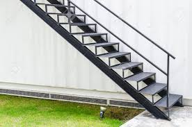 black metal staircase stock photo picture and royalty free image