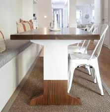 white and walnut dining table the brooklyn home co