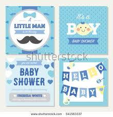 elephant baby shower theme invitation template stock vector