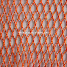 orange colour polyester fishing net mesh buy knotless polyester