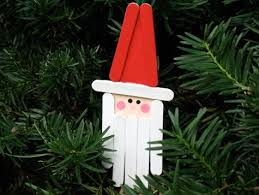 holidays santa ornaments craft sticks