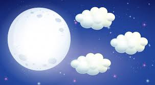 with moon and clouds vector free