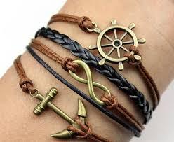 bracelet leather cord images Handmade braided pu leather cord bracelet vintage sideway alloy jpg