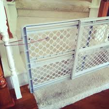 Child Stair Gates Baby Gate Stairway Hack Genius Use Bungee Cords To Make Any