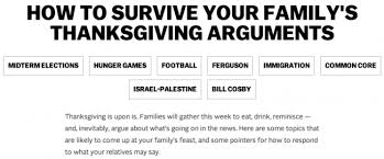 enough with the how to discuss politics at thanksgiving posts