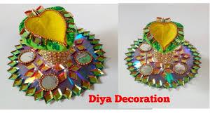 diy how to make diya stand at home diya decoration 2017 easy