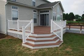 Corner Deck Stairs Design Beautiful Deck Stairs With Landing Design Ideas How To Build