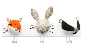 10 ideas for a woodland animal themed nursery shopping guides felt animal head wall hooks