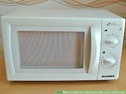 Microwave With Toaster Oven How To Clean Your Microwave With Lemon And Vinegar 6 Steps