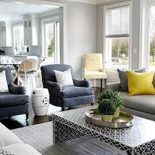 yellow and light gray living room contemporary living room
