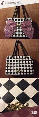 bags with bows on them betsey johnson pink bow checkered purse betsey johnson purse