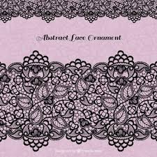 black lace decoration vector free