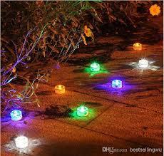 outdoor solar led underground lights garden street road colorful