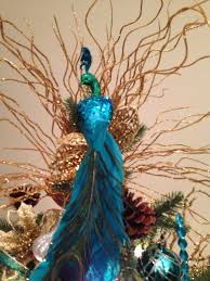 Peacock Decorations by A Peacock Christmas Tree Topper Alyse Do You See This